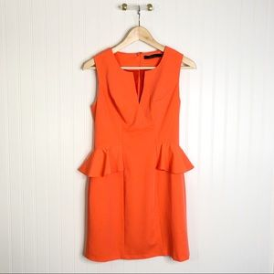 Ark & Co orange Midi Dress Sleeveless M Ruffle